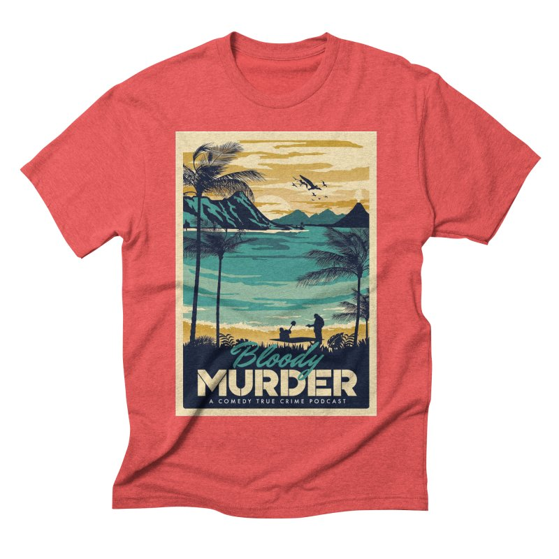 Tropical Travel Men's Triblend T-Shirt by Bloody Murder's Artist Shop