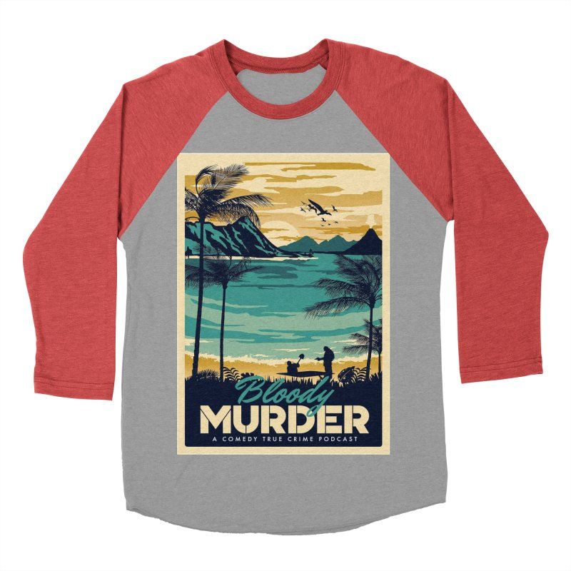 Tropical Travel Women's Baseball Triblend Longsleeve T-Shirt by Bloody Murder's Artist Shop