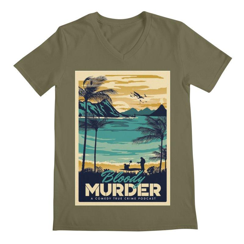 Tropical Travel Men's Regular V-Neck by Bloody Murder's Artist Shop