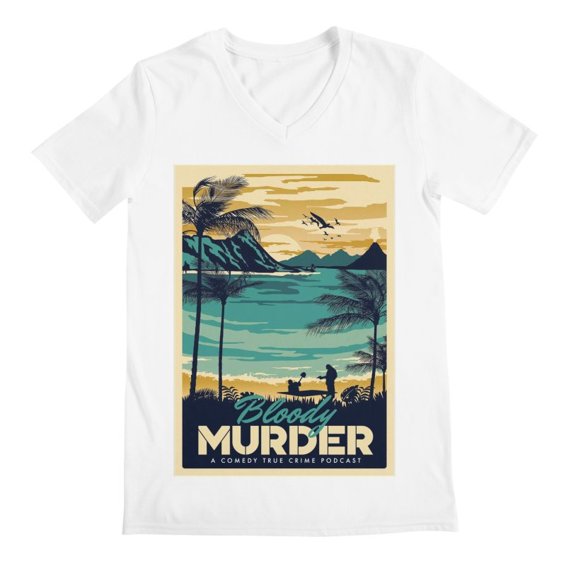 Tropical Travel Men's V-Neck by Bloody Murder's Artist Shop