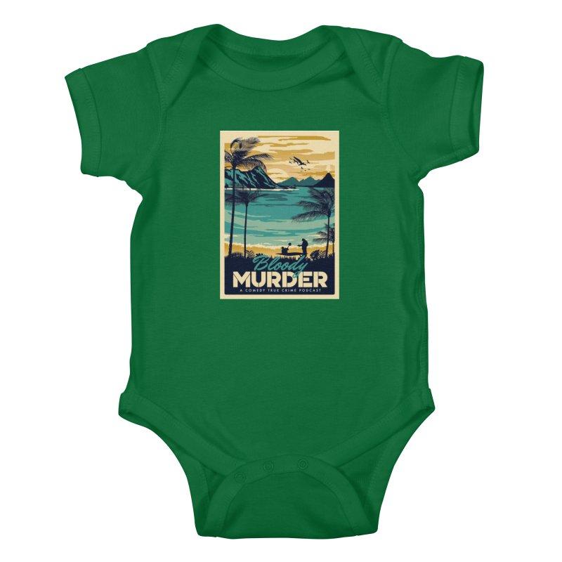 Tropical Travel Kids Baby Bodysuit by Bloody Murder's Artist Shop