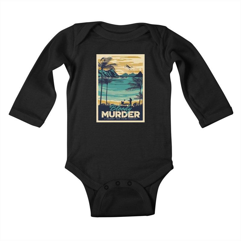 Tropical Travel Kids Baby Longsleeve Bodysuit by Bloody Murder's Artist Shop