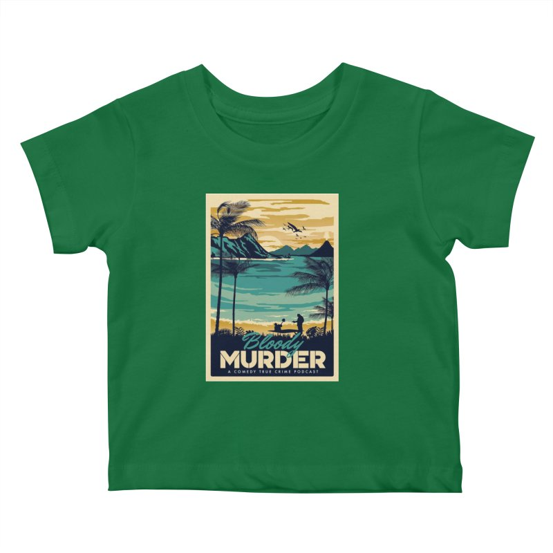 Tropical Travel Kids Baby T-Shirt by Bloody Murder's Artist Shop