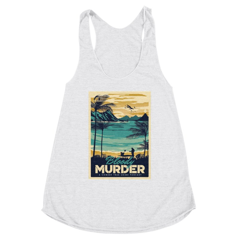 Tropical Travel Women's Racerback Triblend Tank by Bloody Murder's Artist Shop