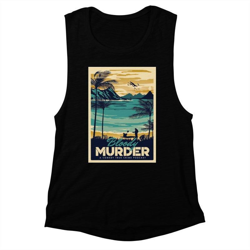 Tropical Travel Women's Muscle Tank by Bloody Murder's Artist Shop