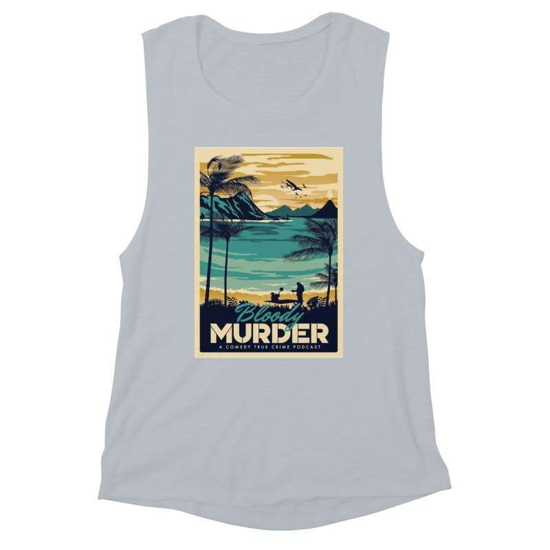 Tropical Travel Women's Muscle Tank by Bloody Murder's Artist Shop