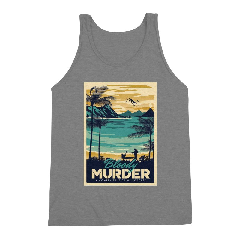 Tropical Travel Men's Triblend Tank by Bloody Murder's Artist Shop