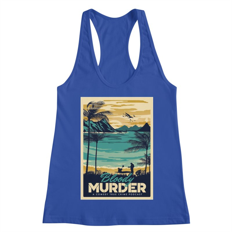 Tropical Travel Women's Racerback Tank by Bloody Murder's Artist Shop