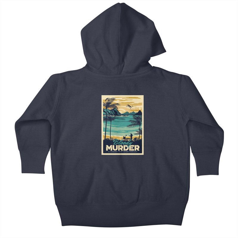 Tropical Travel Kids Baby Zip-Up Hoody by Bloody Murder's Artist Shop