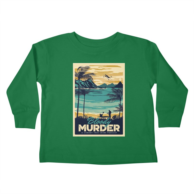 Tropical Travel Kids Toddler Longsleeve T-Shirt by Bloody Murder's Artist Shop