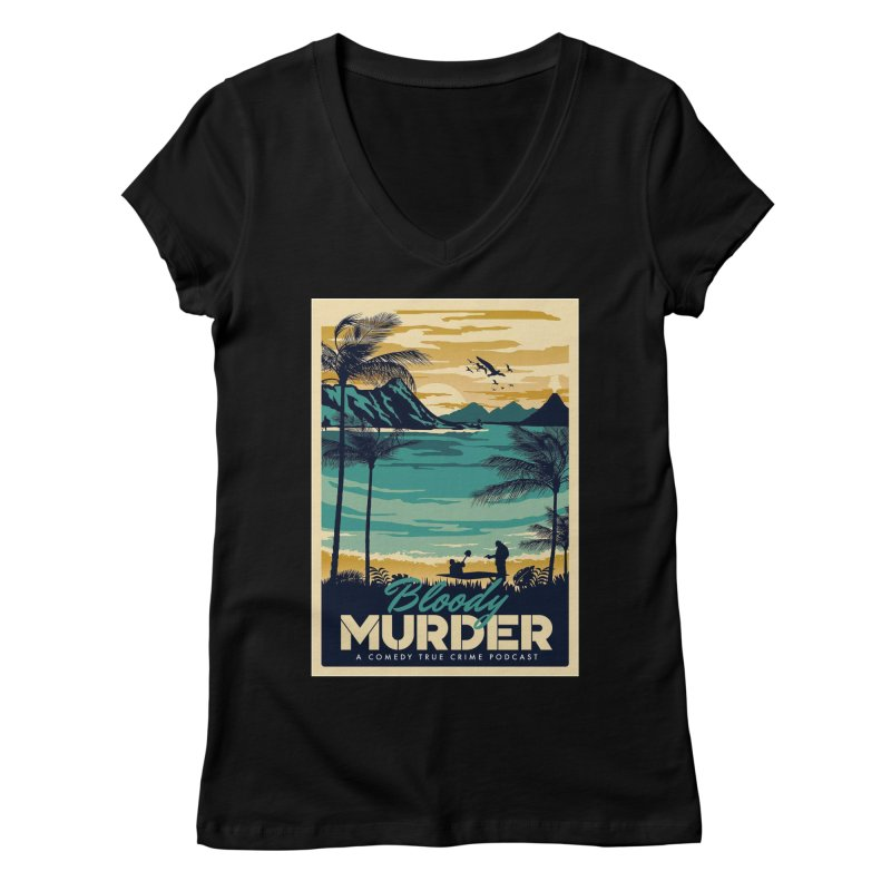 Tropical Travel Women's V-Neck by Bloody Murder's Artist Shop