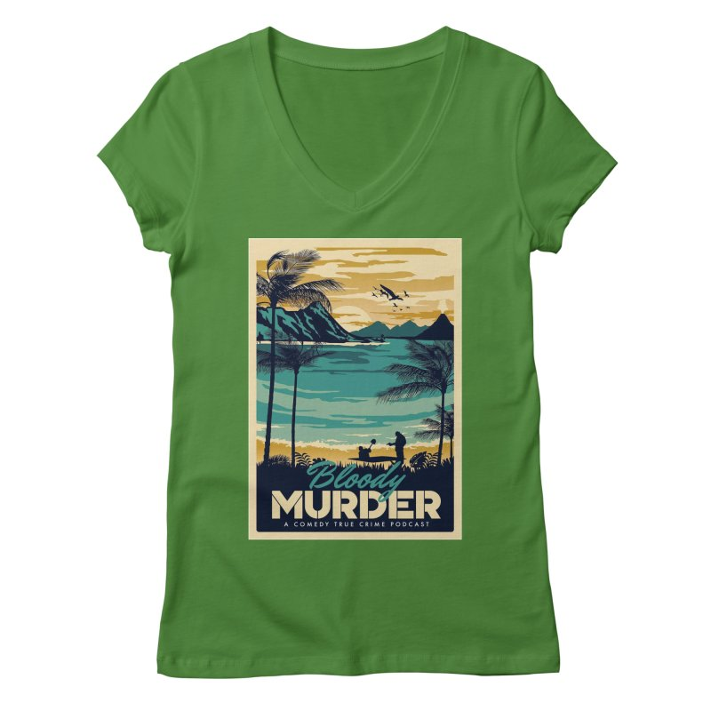 Tropical Travel Women's Regular V-Neck by Bloody Murder's Artist Shop