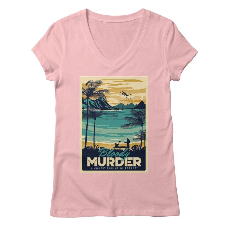 Tropical Travel Women's Regular V-Neck by Bloody Murder's Artist Shop