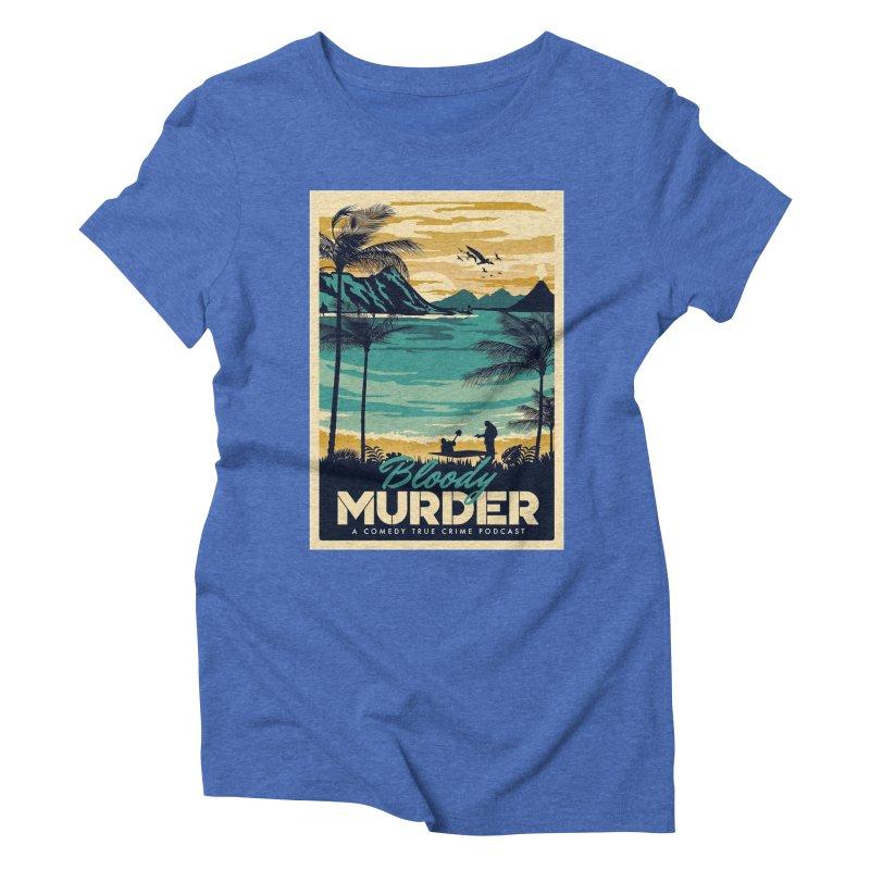 Tropical Travel Women's Triblend T-Shirt by Bloody Murder's Artist Shop