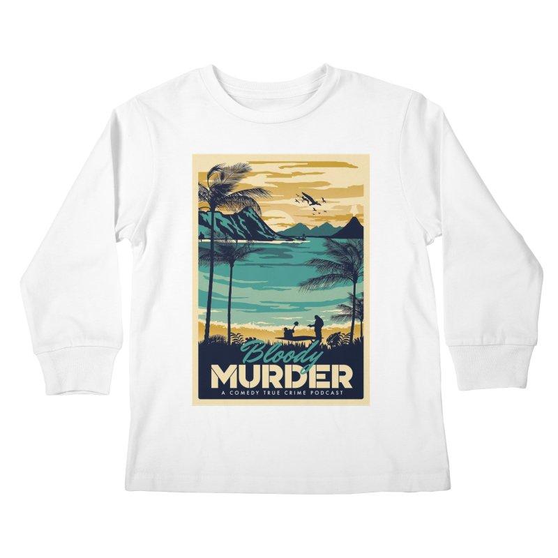 Tropical Travel Kids Longsleeve T-Shirt by Bloody Murder's Artist Shop