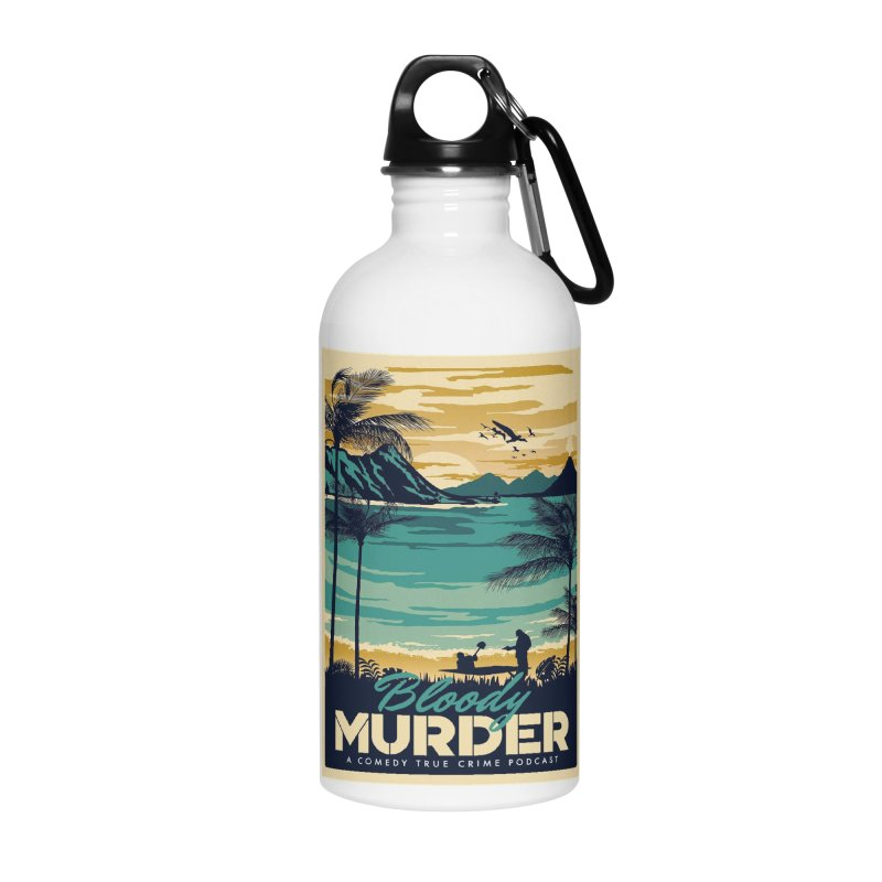 Tropical Travel Accessories Water Bottle by Bloody Murder's Artist Shop