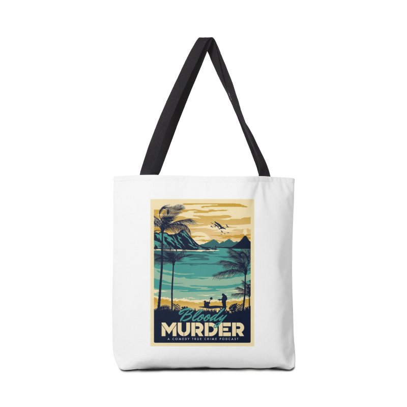 Tropical Travel Accessories Tote Bag Bag by Bloody Murder's Artist Shop