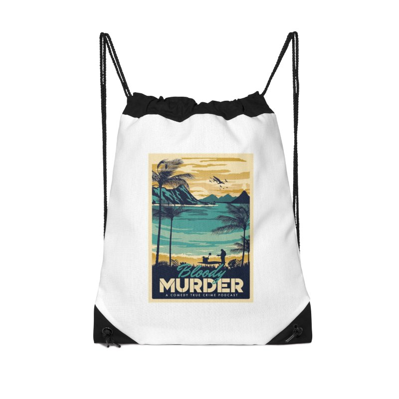 Tropical Travel Accessories Drawstring Bag Bag by Bloody Murder's Artist Shop