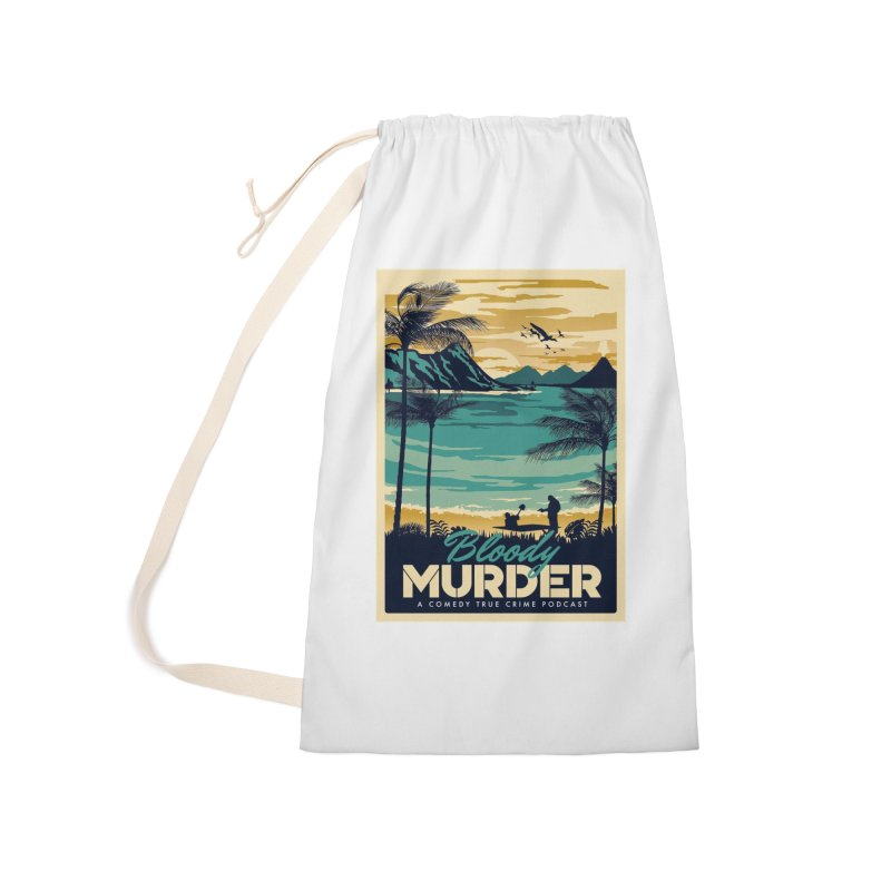 Tropical Travel Accessories Laundry Bag Bag by Bloody Murder's Artist Shop