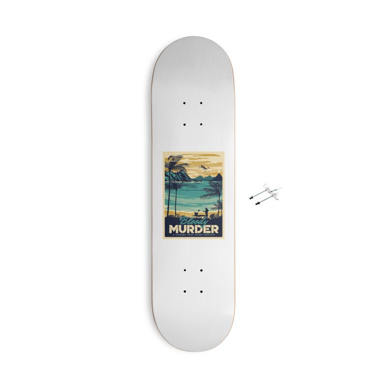 Tropical Travel Accessories With Hanging Hardware Skateboard by Bloody Murder's Artist Shop