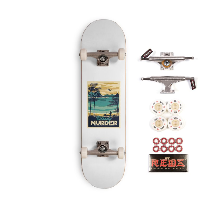 Tropical Travel Accessories Complete - Pro Skateboard by Bloody Murder's Artist Shop