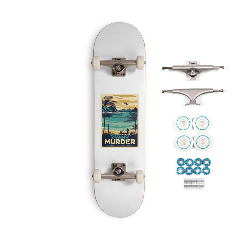 Tropical Travel Accessories Complete - Basic Skateboard by Bloody Murder's Artist Shop