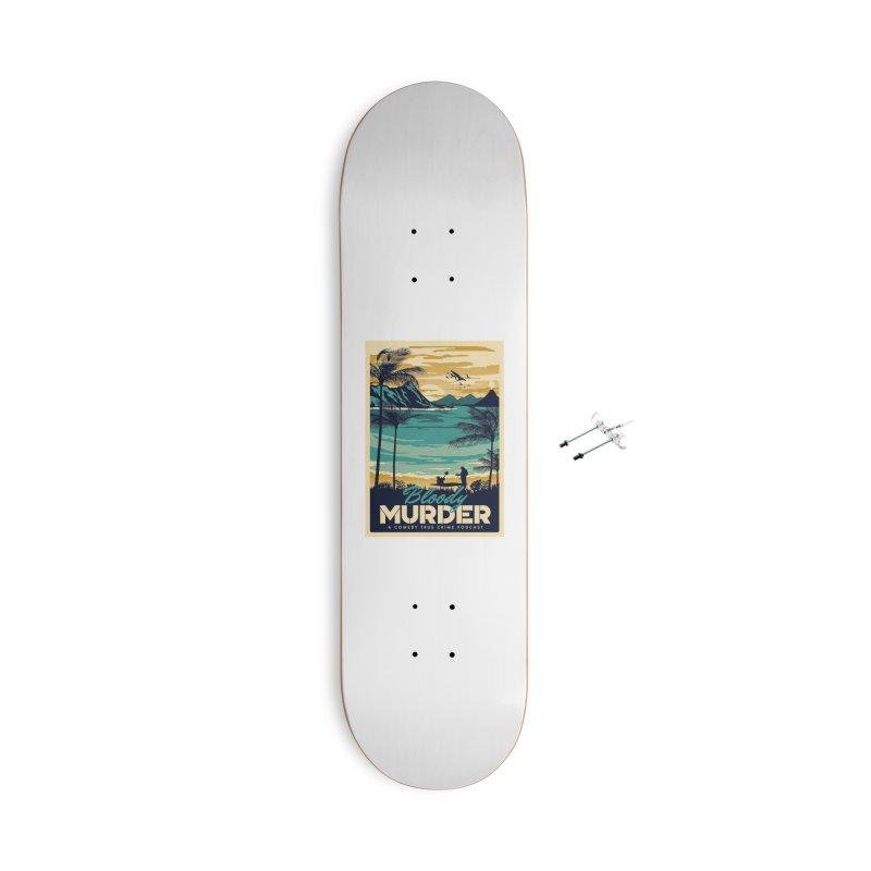 Tropical Travel Accessories Skateboard by Bloody Murder's Artist Shop