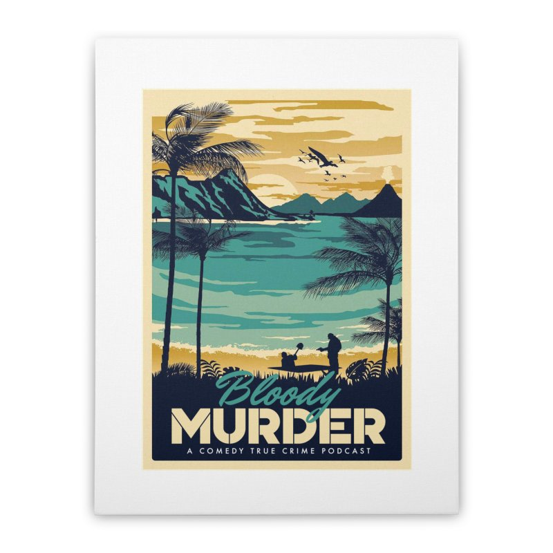 Tropical Travel Home Stretched Canvas by Bloody Murder's Artist Shop