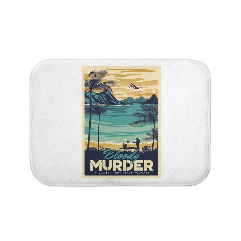 Tropical Travel Home Bath Mat by Bloody Murder's Artist Shop