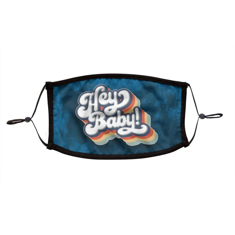 Hey Baby! Version Two Accessories Face Mask by Bloody Murder's Artist Shop