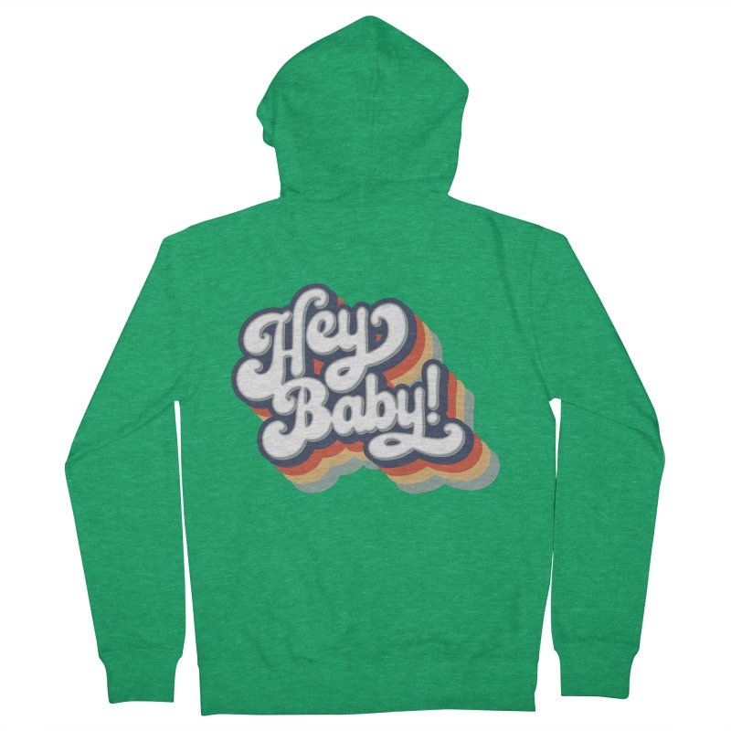 Hey Baby! Version Two Men's Zip-Up Hoody by Bloody Murder's Artist Shop