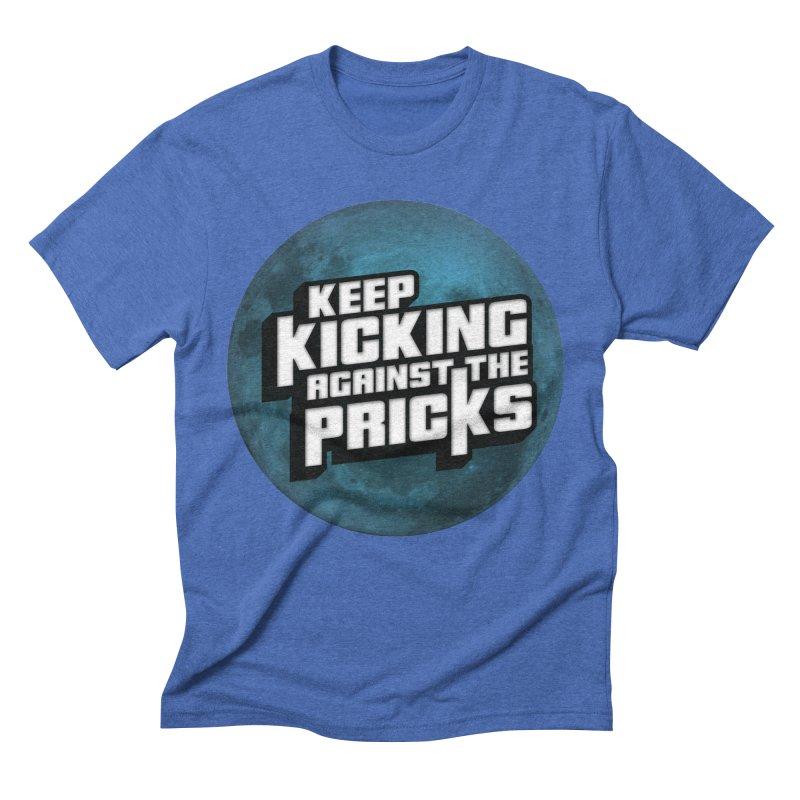 Keep Kicking Against The Pricks - Blue Moon Version Men's T-Shirt by Bloody Murder's Artist Shop