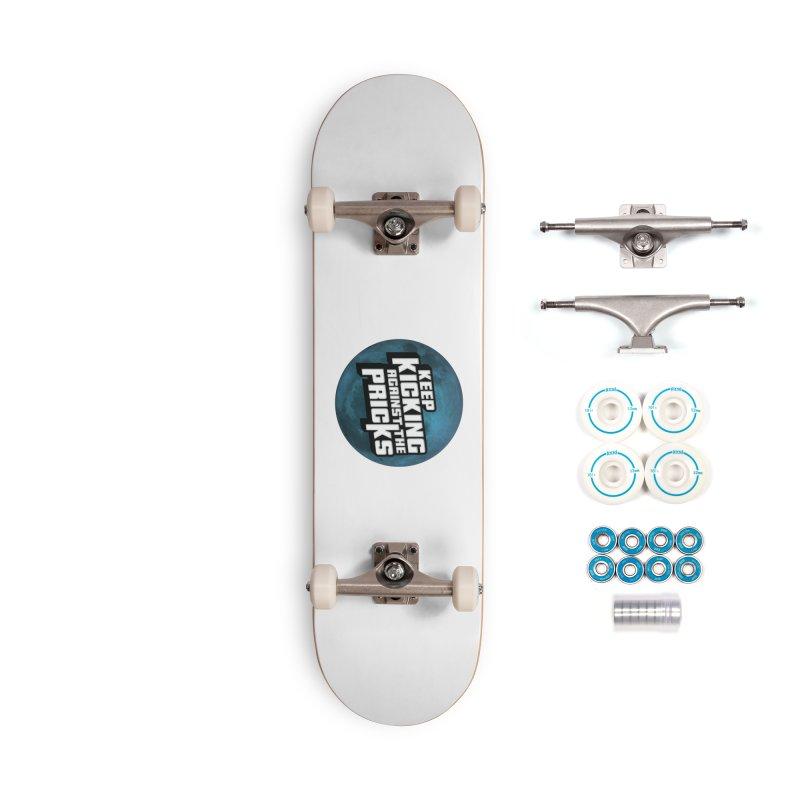 Keep Kicking Against The Pricks - Blue Moon Version Accessories Skateboard by Bloody Murder's Artist Shop