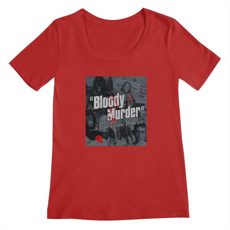Bloody Murder Faces Women's Scoopneck by bloodymurder's Artist Shop