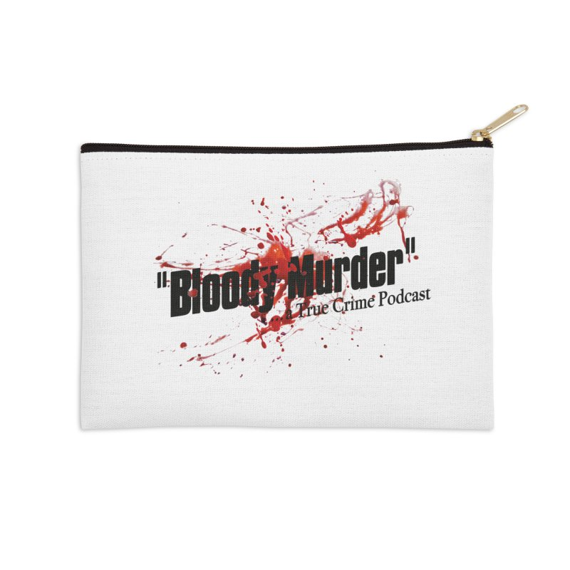 Bloody Murder Bleeding Logo Accessories Zip Pouch by bloodymurder's Artist Shop