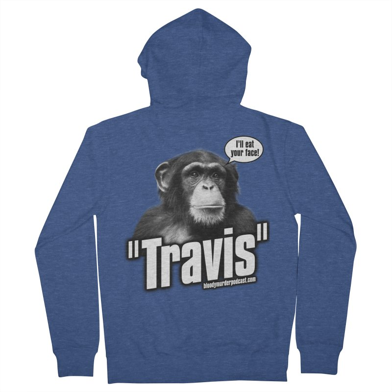 Travis the Chimp Men's French Terry Zip-Up Hoody by Bloody Murder's Artist Shop