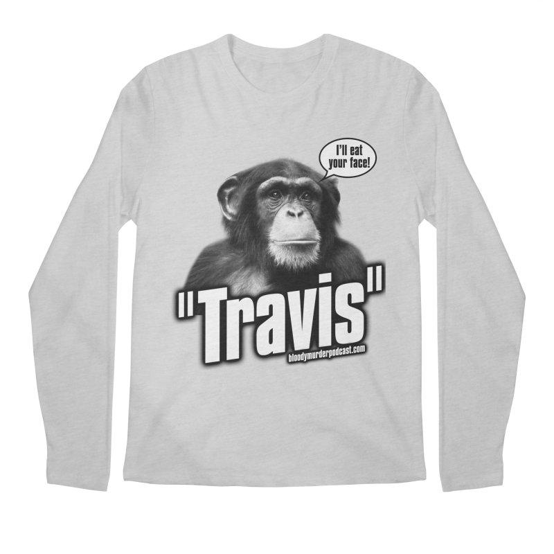 Travis the Chimp Men's Regular Longsleeve T-Shirt by Bloody Murder's Artist Shop