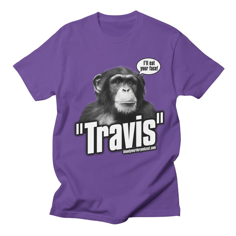 Travis the Chimp Men's Regular T-Shirt by Bloody Murder's Artist Shop