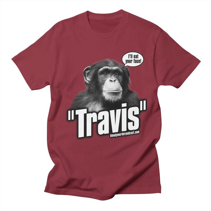 Travis the Chimp Men's T-shirt by bloodymurder's Artist Shop