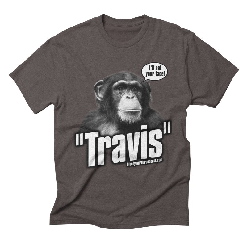 Travis the Chimp Men's Triblend T-shirt by bloodymurder's Artist Shop