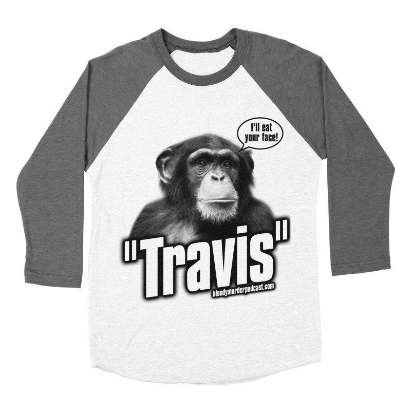 Travis the Chimp Men's Baseball Triblend T-Shirt by bloodymurder's Artist Shop