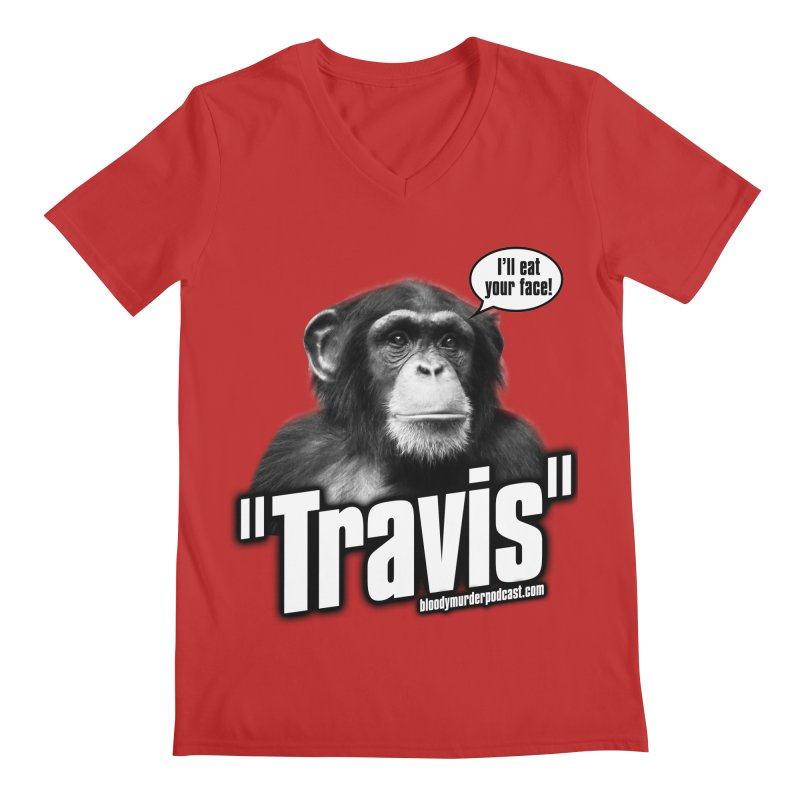 Travis the Chimp Men's V-Neck by bloodymurder's Artist Shop