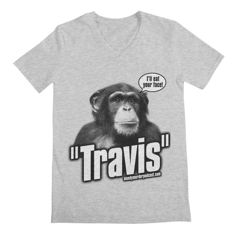Travis the Chimp Men's V-Neck by bloodymurder's Artist Shop