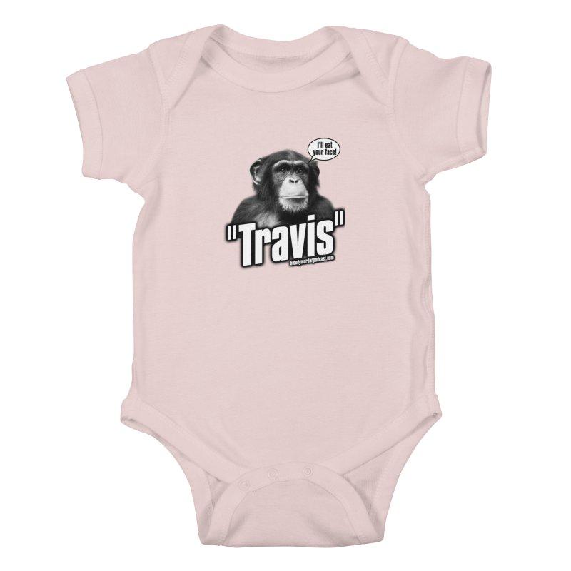 Travis the Chimp Kids Baby Bodysuit by bloodymurder's Artist Shop