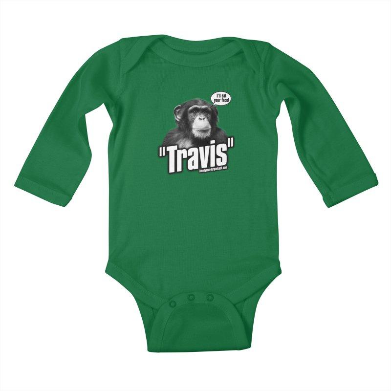 Travis the Chimp Kids Baby Longsleeve Bodysuit by bloodymurder's Artist Shop