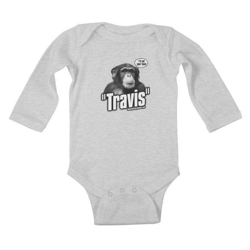 Travis the Chimp Kids Baby Longsleeve Bodysuit by bloodymurder's Artist Shop