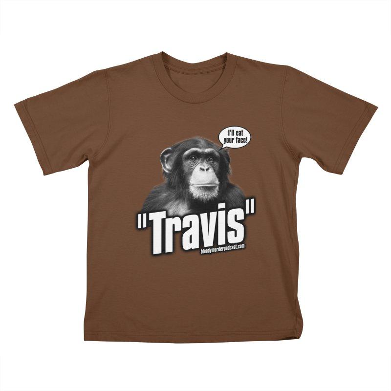 Travis the Chimp Kids T-Shirt by Bloody Murder's Artist Shop