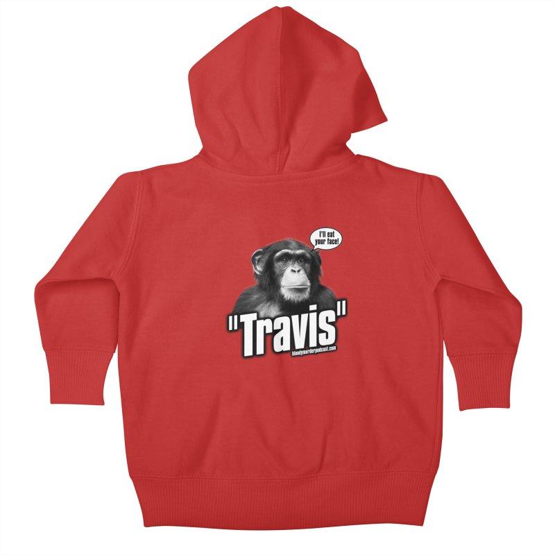 Travis the Chimp Kids Baby Zip-Up Hoody by Bloody Murder's Artist Shop