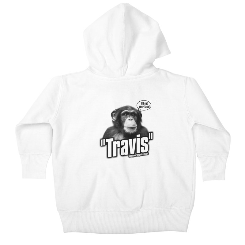 Travis the Chimp Kids Baby Zip-Up Hoody by bloodymurder's Artist Shop