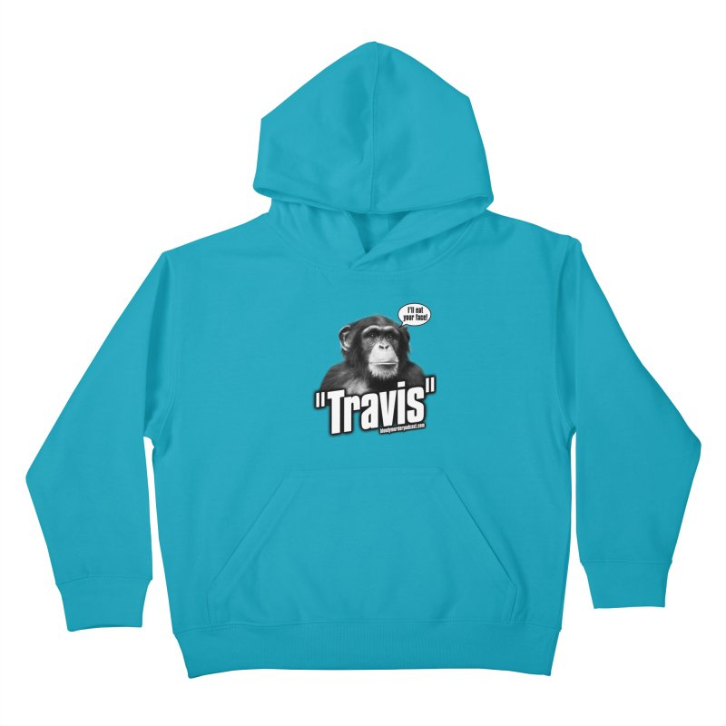 Travis the Chimp Kids Pullover Hoody by bloodymurder's Artist Shop